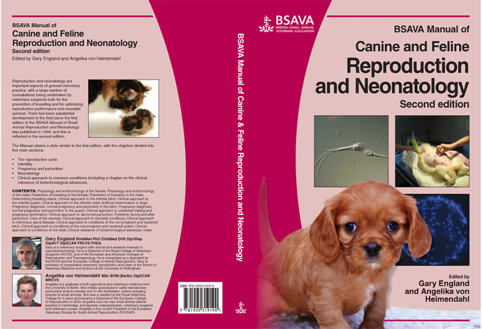 """Canine and Feline Reproduction and Neonatology"" Manual by Angelika von Heimendahl/Gary England"